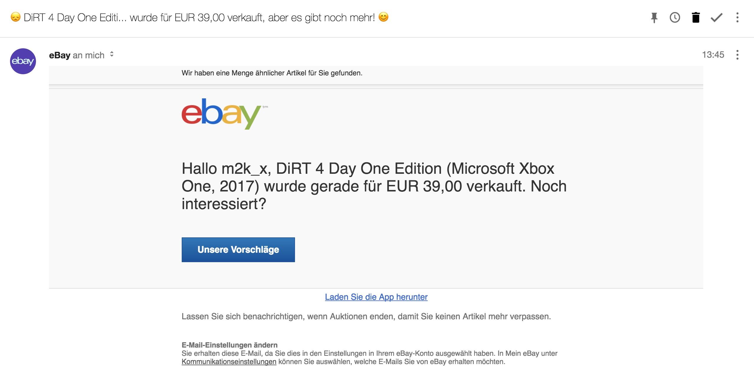 Benachrichtigung Deaktivieren Bla Wurde Gerade Ebay Community
