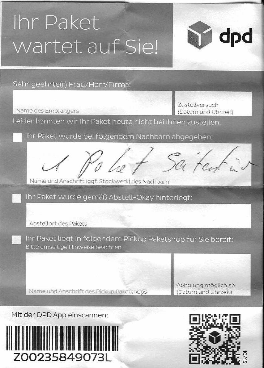 Dpd Unterschrift Gefälscht
