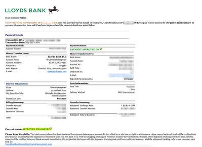 Betrugsmasche mit Käufern aus England Treuhand eBay
