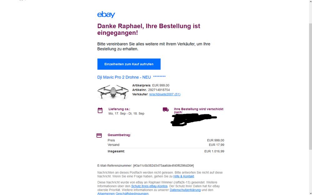 ebay rechnung erhalten