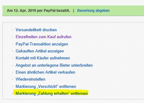 paypal transaktion rückgängig machen