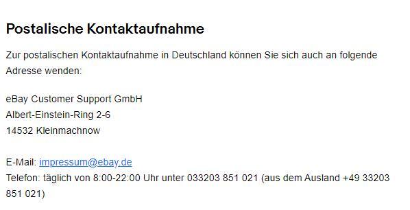 eBay Konto vor 2 Jahren löschen lassen von eBay, a