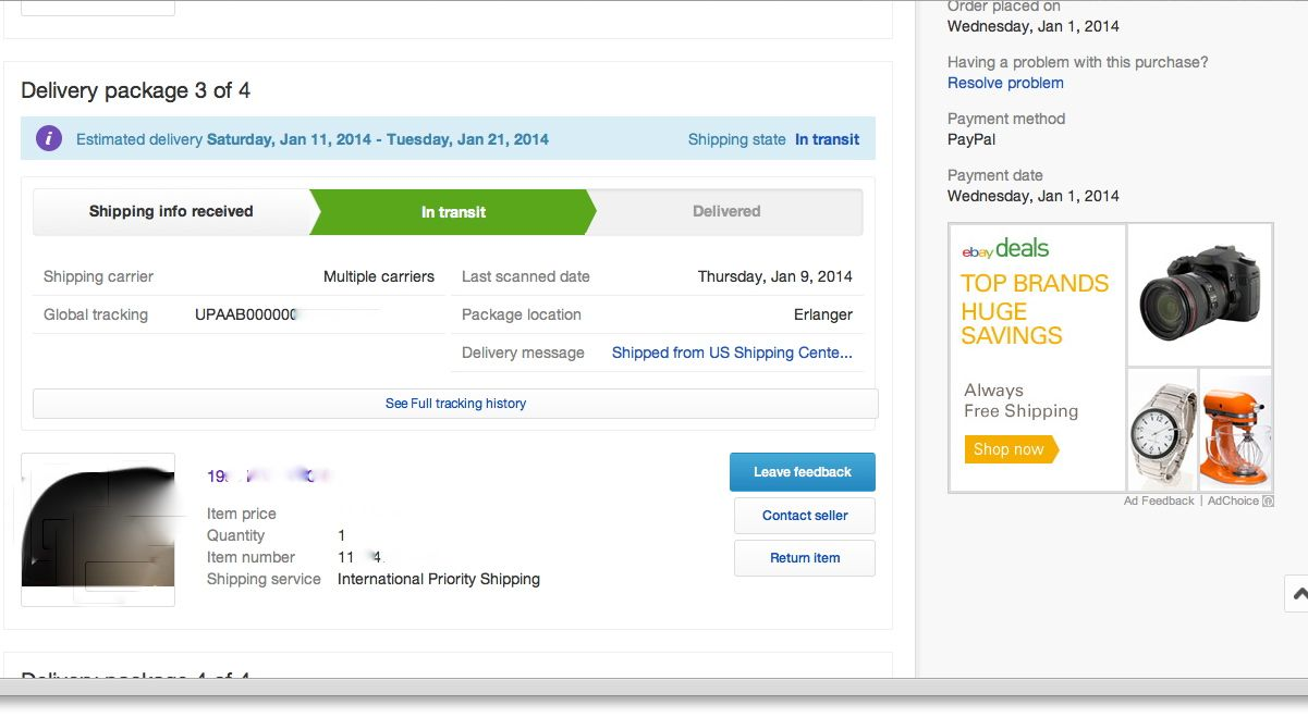 EBAY SHIPPING TIPS. All you need to enter is the total weight of the package (including the box and packing materials), your zip code, shipping service, and handling fee. EBay will automatically calculate the cost of shipping based on the buyer's location. USPS and UPS are the only shipping types currently supported by eBay's shipping calculator.