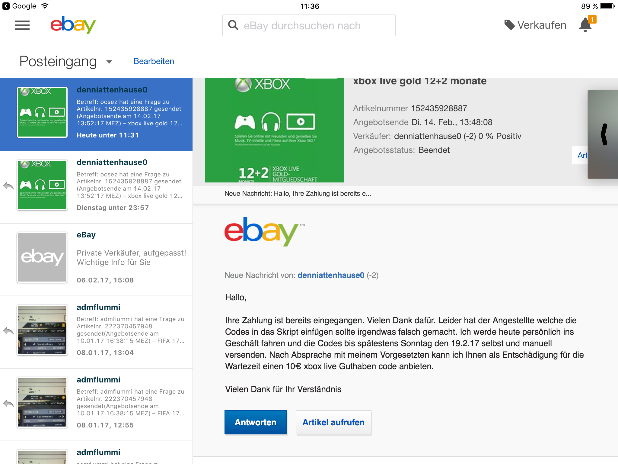 Betrug per Überweisung - eBay Community