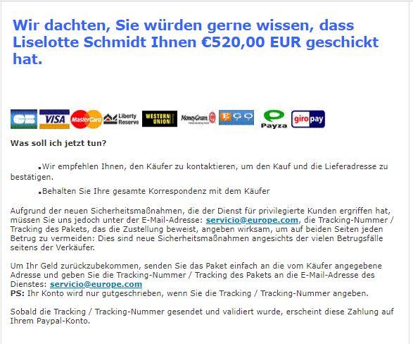 Ebay Kleinanzeigen (Betrug mit Paypalzahlungen aus ...